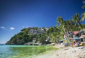 exotiska diniwid badorter i tropiska paradiset boracay Filippinerna foto