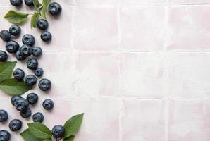 blåbär på kakel bakgrund foto
