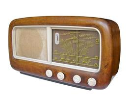 gammal radiomottagare foto