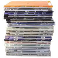 hög med cd -skivor foto