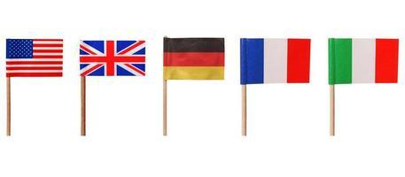 USA: s flaggor tyskland frankrike italien foto