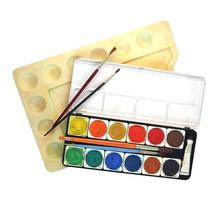 isolerade målarverktyg foto