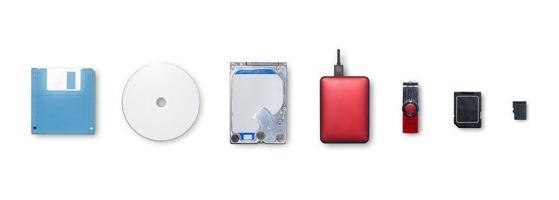 enheterna använder för lagringsinformation och överföring eller säkerhetskopiering av data. foto