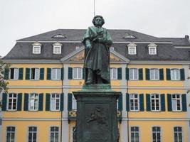 Beethoven -statyn i Bonn, Tyskland foto