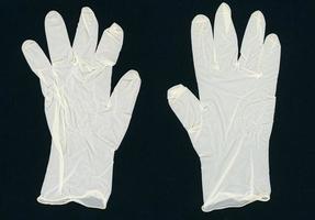 engångshandskar av latex foto
