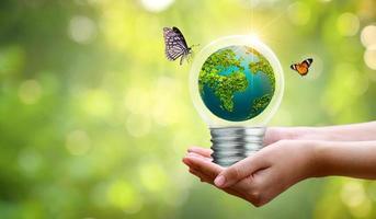 begrepp om miljövård och global uppvärmning foto
