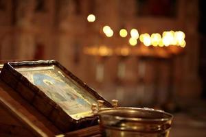 interiör i en kristen kyrka foto