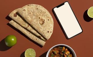de indiska läckra roti -arrangemangen foto