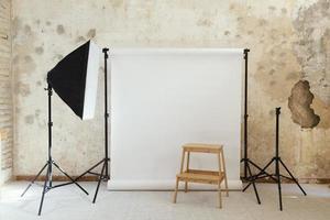artist props photography studio. upplösning och vackert foto av hög kvalitet