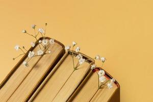 vacker komposition olika böcker. upplösning och vackert foto av hög kvalitet