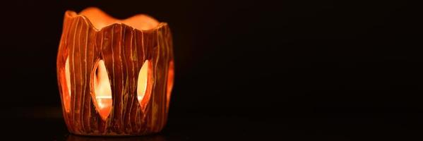 levande ljus halloween foto