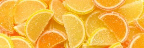 godis marmelad gelé apelsinskiva foto