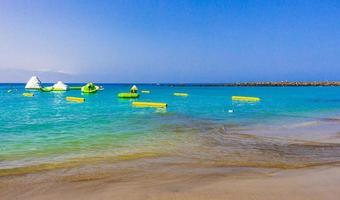 strand playa de las vistas kanariska spanska ön tenerife afrika. foto