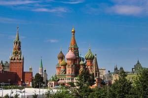 st. basilikakatedralen vid den berömda röda torget i Moskva foto