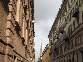 utsikt över stadens centrum i Turin foto