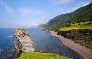 avlägsen havsstrand i newfoundland foto