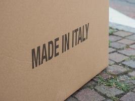 gjord i Italien på paket foto