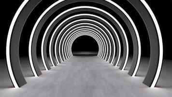 3D -rendering av element abstrakt neonljus foto
