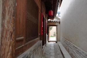 tianshui folkkonstmuseum hu shi folkhus, Gansu Kina foto