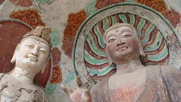 maijishan grottempel-komplex i tianshui stad, Gansu-provinsen Kina. foto