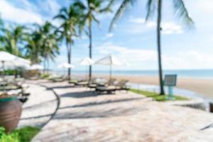 abstrakt oskärpa säng pool runt swimmimg pool för bakgrund foto