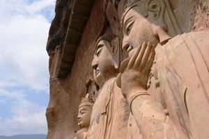 maijishan grottoes artwork relief foto