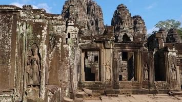 bayon tempel i angkor wat komplex, siem skörd kambodja foto