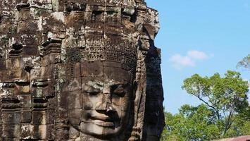 ansiktstorn vid bajonttemplet, Siem Reap Kambodja foto