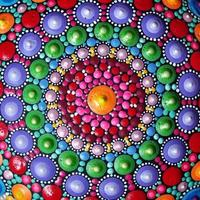 del av vackra mandala handmålade foto