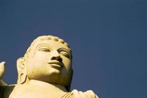 ansikte av buddha foto