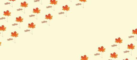 höstens kreativa mönster med lönnlöv foto