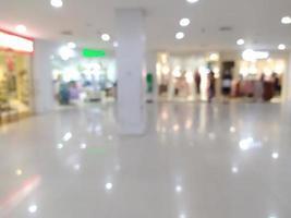 abstrakt suddighet med bokeh i köpcentret, ur fokus stormarknad foto