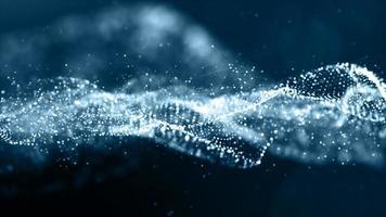 blå färgpartiklar våg abstrakt bakgrund foto