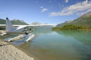 flytplan på en vildmarkssjö foto