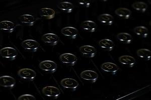 antika retro vintage skrivmaskin nycklar foto