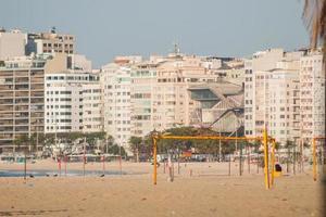 Copacabana -stranden i Rio de Janeiro, Brasilien. foto
