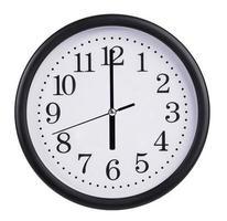 klockan sex på urtavlan foto