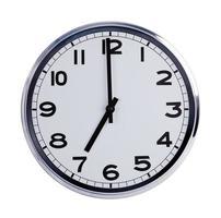 klockan runt klockan visar klockan sju foto
