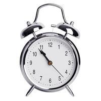 fem minuter till elva på en väckarklocka foto