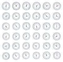 många timmar med olika tid foto