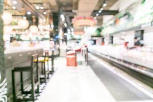 abstrakt suddig stormarknad för bakgrund foto