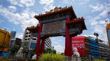thailands tempel i chinatown -zonen. foto