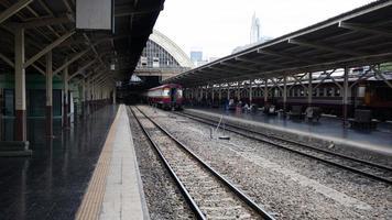 Bangkok, Thailand, 08 augusti 2020 - tågstation i Bangkok foto