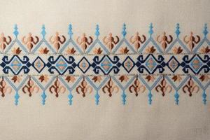 vintage handgjorda färgglada broderier traditionella turkiska mönster foto