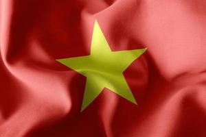 3D -rendering illustration flagga av Vietnam. foto