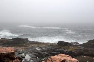 vackert naturligt havslandskap foto