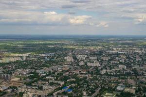 ukrainskt flyglandskap. zhytomyr, polissya region, ukraina foto