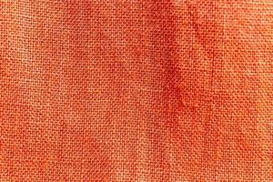 orange linnetyg textur bakgrund foto