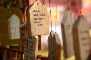 bönebräda eller bönplattor av trä foto