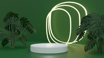natur grön produkt podium scen bakgrund foto
